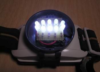 LED10発改造ヘッドランプ